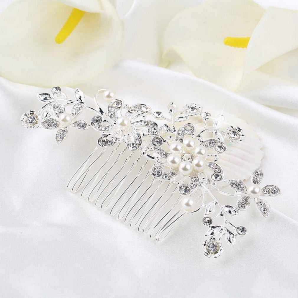 Bridal Hair Comb Crystal...