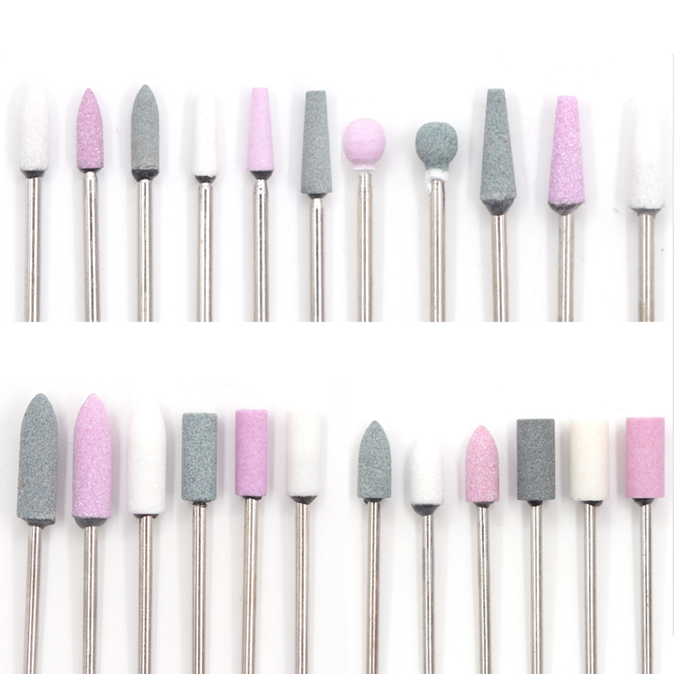 Ceramic Stone Nail Drill Bits Manicure Cutter For Pedicure Manicure Machine Polish Electric Milling Cutter For Manicure Nail Art