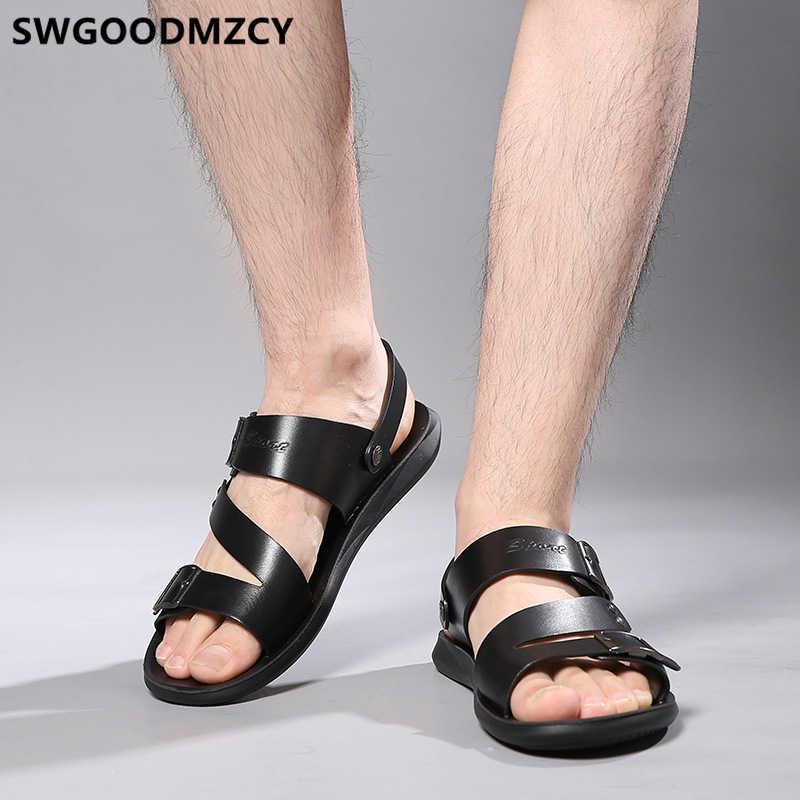 Sandali uomo 2020 di Estate Sandali Da Spiaggia Sandali di Cuoio Degli Uomini Del Progettista Scarpe Da Uomo Aperto Scarpe Da Uomo Zapatos De Hombre Erkek Ayakkabi