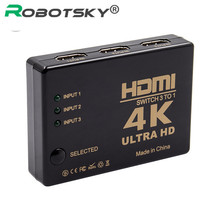 3 em 1 para fora hdmi switcher divisor completo hd 1080p 4k * 2k 3 interruptor de porta seletor 3x1 hdmi switcher para hdtv xbox ps3 ps4 multimídia