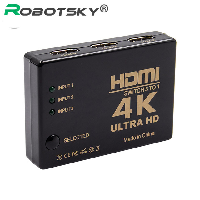 3 in 1 Out HDMI Switcher Splitter Full HD 1080p 4K*2K 3 Port Switch Selector 3x1 Hdmi Switcher For HDTV Xbox PS3 PS4 Multimedia