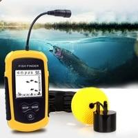 100 m portátil sonar lcd peixe finders ferramentas de pesca alarme transdutor profundidade eco sounder finders caiaque pesca no gelo c