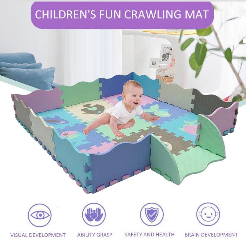 25Pcs/Set EVA Children's Mat Kids Toys Foam Carpet Floor Puzzle Carpet Baby Play Mat Floor Developing Crawling Rugs Puzzle Mat