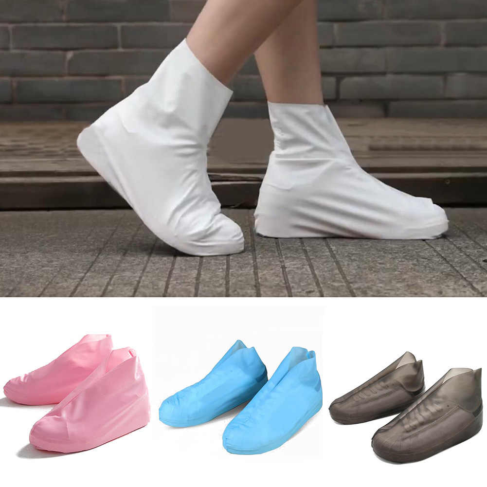 Men Women Non-woven Outdoor Shoe Covers Non-slip Washable Candy Color Over Shoes