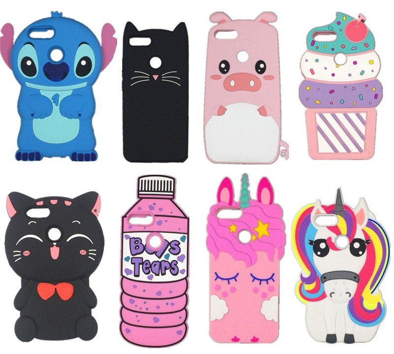 3D Cartoon Kawaii Bow Tie Cat Unicorn Soft Silicone Phone Cover Case For Huawei Honor 5X 6X 7X  8X 8 9 10 Lite Nova 2 2i 3 3i 3e