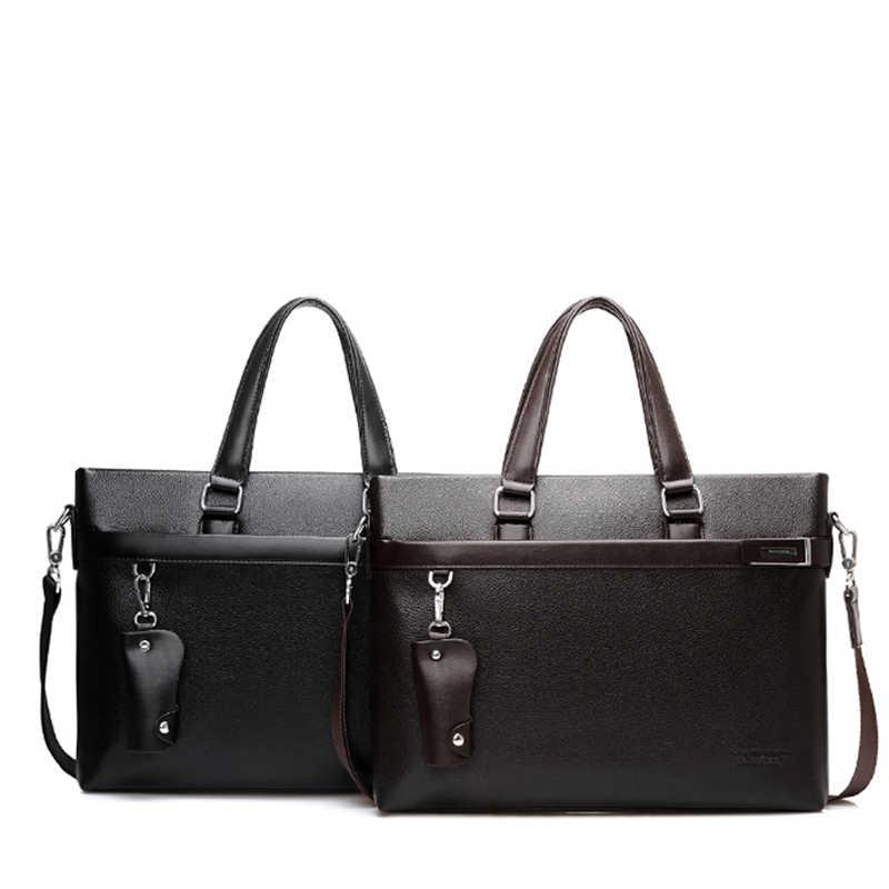Famous Brand Men Briefcase pu Leather Laptop Briefcases Business Male Bag Business Shoulder Bags Men Bags High Quality Handbag