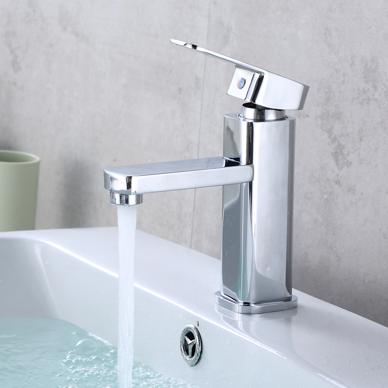 Tao guo Basin Hot And Cold Faucet Single Bore Wash Basin Table Basin Bathroom Toilet Wash Basin Faucet