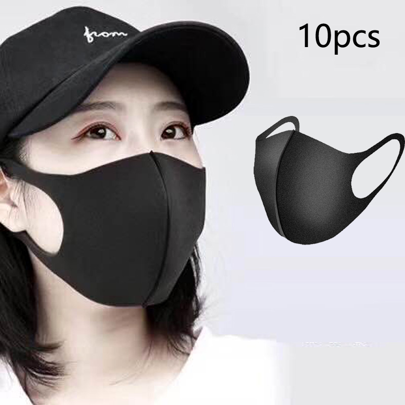 Wholesale 20pcs Mask Mouth Outdoor Pollution Protective Face Mask Durable Breathable Washable Face Shield Mouth Cover