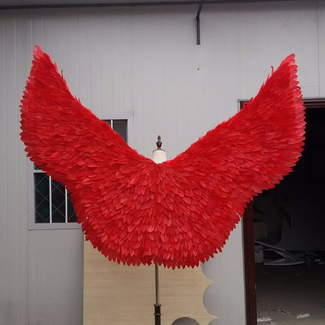 red feather angel wing (4)