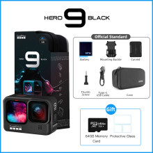 Gopro Hero 9 Zwart Onderwater Actie Camera 4K 5K Met Kleur Front Screen, sport Cam 20MP Foto 'S, Live Streaming Go Pro Hero 9
