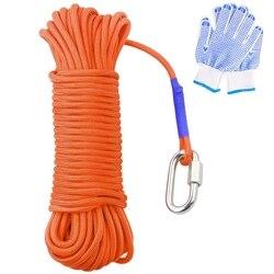 Magnes wędkarski 20 metrów  ciężka lina z zamkiem  uniwersalna nylonowa lina o wysokiej wytrzymałości 65 stóp  średnica 6Mm|Akcesoria wspinaczkowe|Sport i rozrywka -