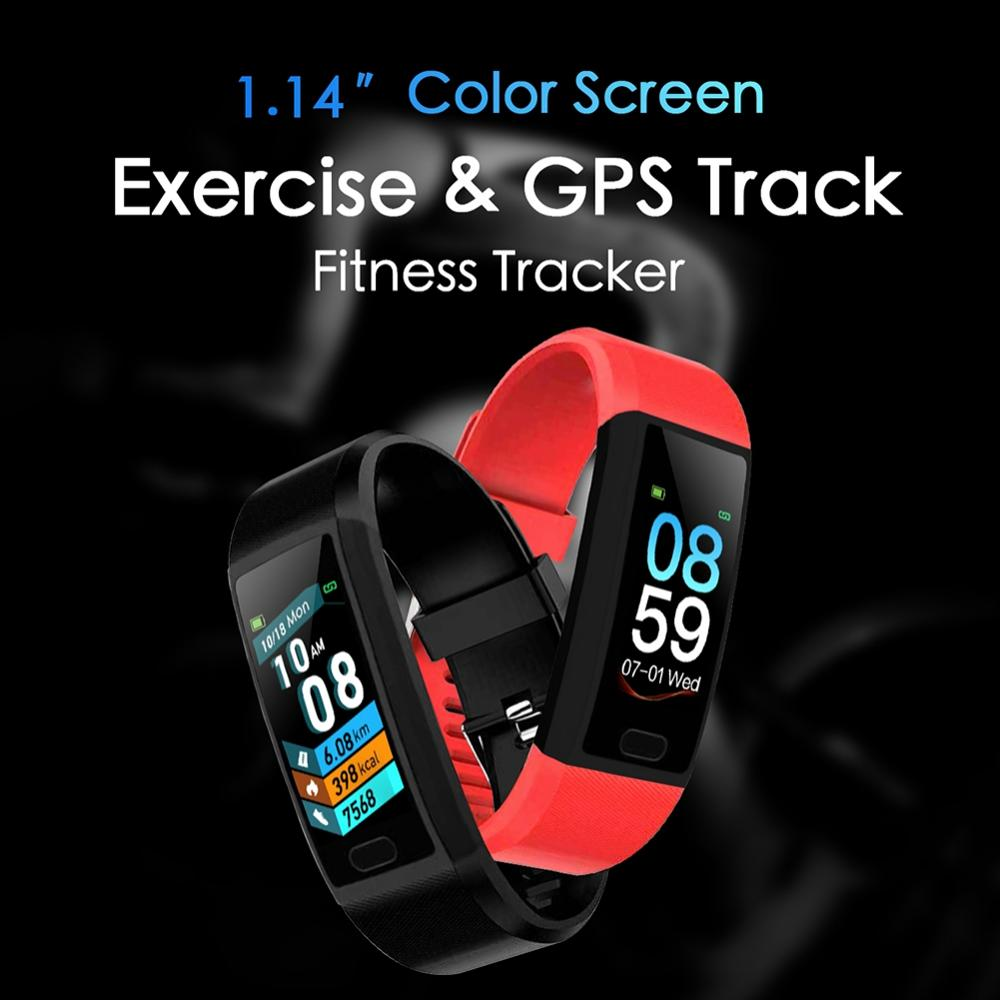 118 Plus GPS Smart Watch Men Women Smart Bracelet Heart Rate Monitor Fitness Tracker Band Sport Watch Smartband for IOS Android in Smart Wristbands from Consumer Electronics