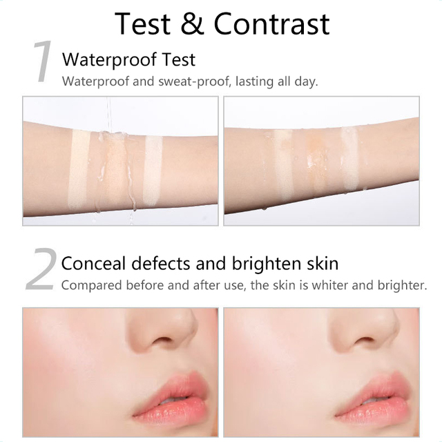 Transparent Pressed Powder Long Lasting Oil Control Face Foundation Waterproof Whitening Skin Finish Concealer 3