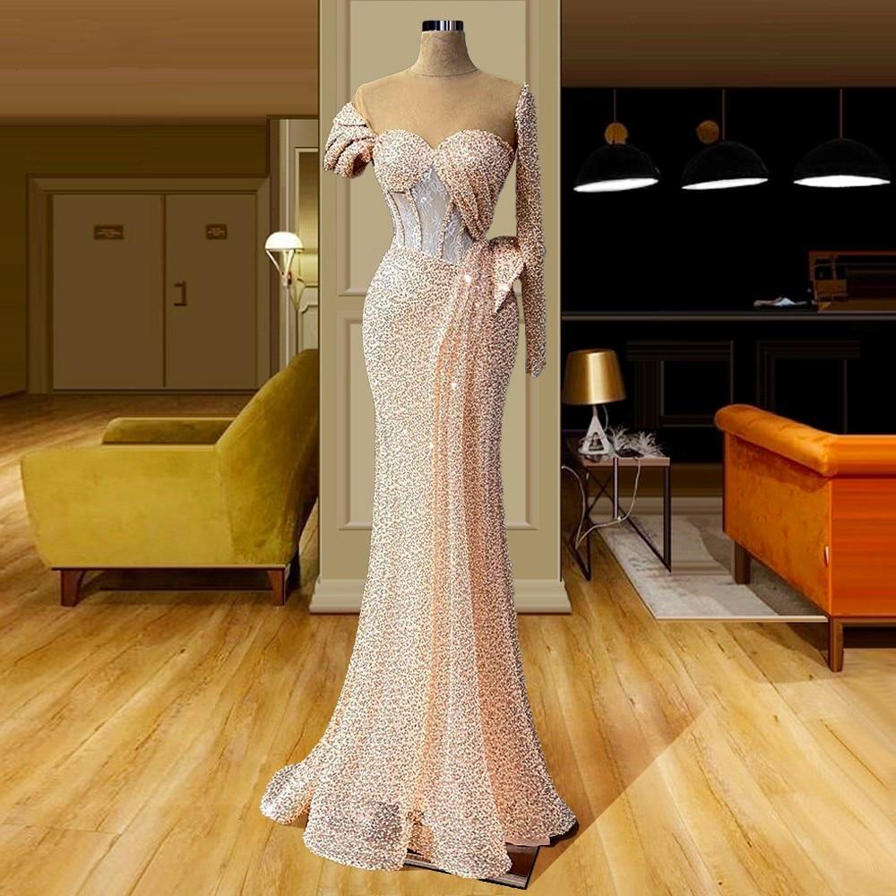 Купить новинка 2020 вечерние платья с длинными блестками женские для