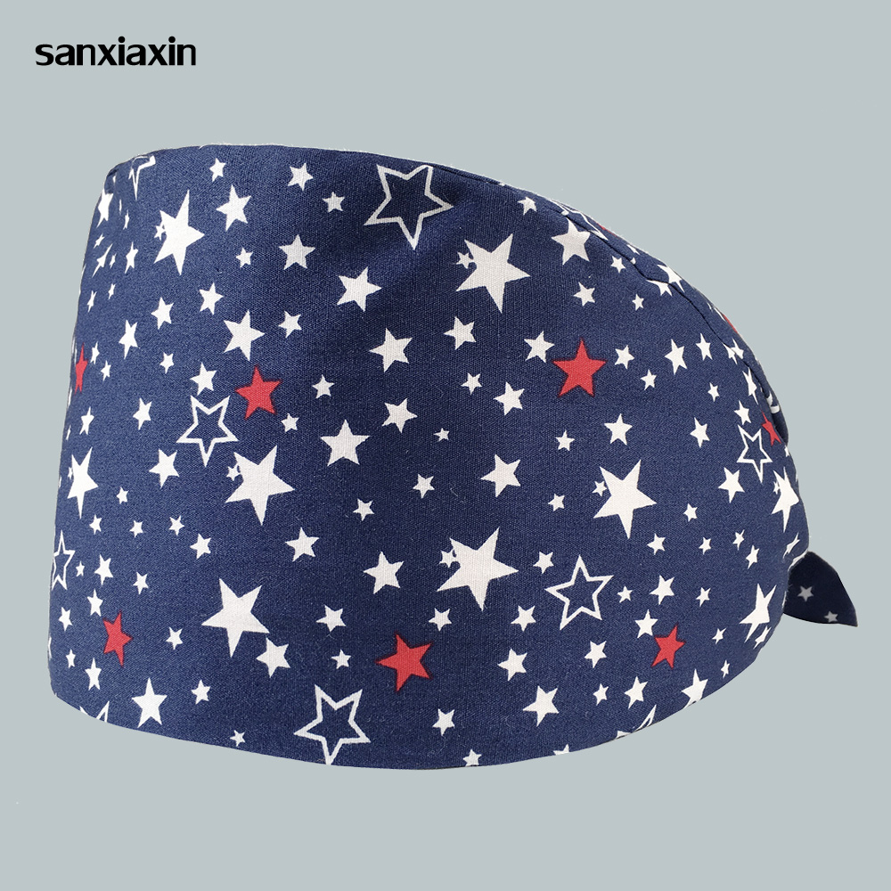 New High Quality Unisex Doctor Nurse Scrub Cap Medical Surgical Hat Dental Clinic Surgery Adjustable Operating Hats Pharmacy