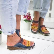 Summer women slippers plus size shoes Wedge fashion comfortable slipper NEW heel shoes woman slippers female