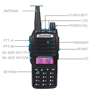 Image 4 - Baofeng Walkie Talkie UV 82, Radio bidireccional uv 82, 10km, UV82, VHF, UHF, banda Dual, transceptor, caza, Radio portátil CB Ham