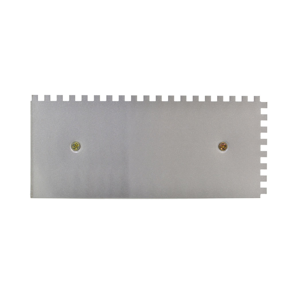Professional Steel Wall Home Multifunctional Plastering Trowel Square Tiling Tool Portable Sawtooth Curved Handle Decoration