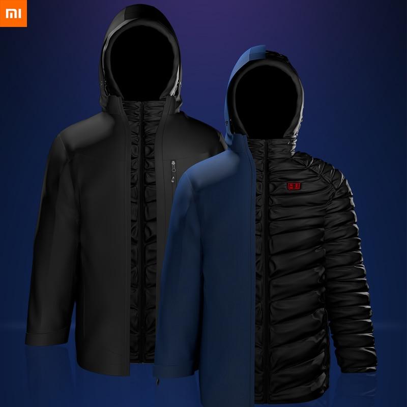 Nouveau Xiaomi Youpin Cottonsmith 3in1 vêtements de chauffage électrique multi-zone chauffage Smart doudoune surmonter 120 degrés en dessous de zéro