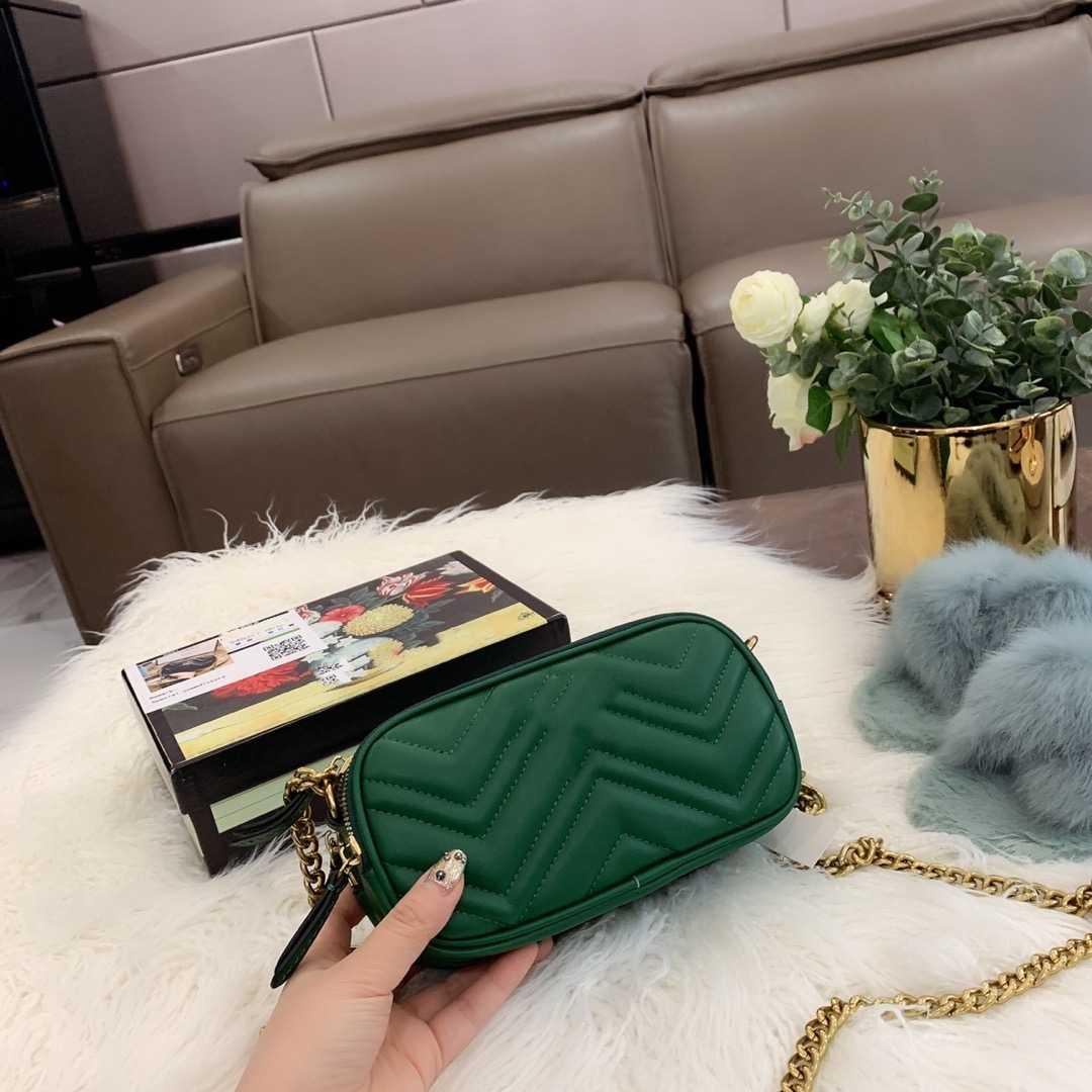 2020 GG العلامة التجارية الجديدة للمرأة حقيبة يد جلدية حقيبة ساعي عصرية ودائمة