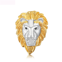 Luxury Stereoscopic Lion Design Rings Jewelry Titanium Steel Casting Ring For Man Free shipping