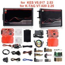 Melhor para kess v5.017 ue vermelho v2.47/v2.53 ecm titanium ktag v7.020 4 led online versão mestre ecu obd2 carro/caminhão programador