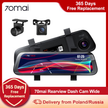 70mai Rearview Dash Cam Wide (MIDRIVE D07) | Mirror DVR Xiaomi 70mai Rearview Dash Cam Wide Night Vision Backup Camera
