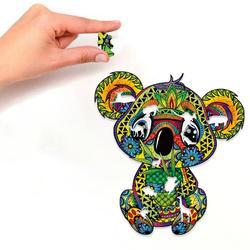 Rompecabezas de madera único 3D para adultos y niños, rompecabezas educativo de Koala misteriosa, juego interactivo de regalo fabuloso