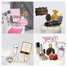 Cupcake Topper Cake-Flags Cake-Decoration Wedding-Dessert Birthday-Favors Fashion Cloud