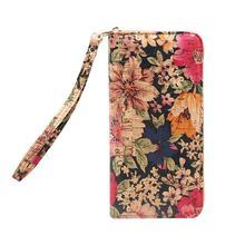 все цены на womens wallets and purses Boshiho Natural Eco Friendly Woman Clutch Cork Ladies Clutch Purse Wallet With Long Zipper онлайн