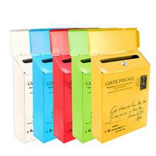 Ретро американский почтовый ящик с замком, наружная винтажная почтовая коробка, наружная домашняя почтовая коробка с буквами, садовая металлическая декоративная почтовая коробка