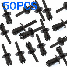 50pcs/set new Black Fender Liner Nylon Rivet Expanding Clip wear resistance For BMW E12 E28 E30 E34 E36 E39 E46 E60