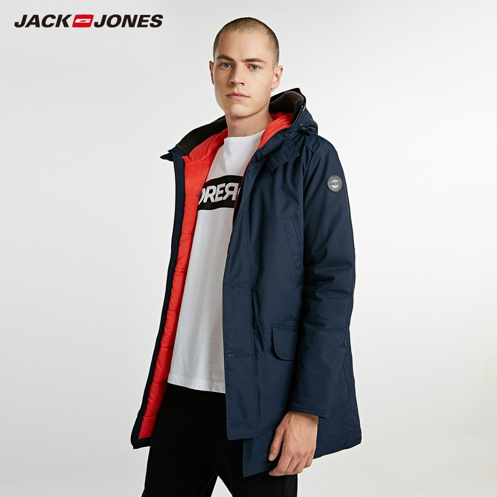 JackJones hommes hiver à capuche Parka manteau longue veste de luxe pardessus 2019 nouveau Menswear 218309511 - 4