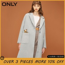 ONLY Women Straight Fit Embroidered Pocket One-button Wool Coat Overcoat| 11834S542(China)