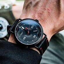 2020 resif kaplan/RT yeni tasarım tüm siyah basit İzle erkekler deri kayış PVD su geçirmez askeri saatler otomatik saatler RGA9055