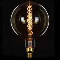 TIANFAN Edison Bulbs G200 Big Globe Led Bulb Vintage Spiral Filament 4W 6W Dimmable Decorative Pendant Table Lamp Light Bulb