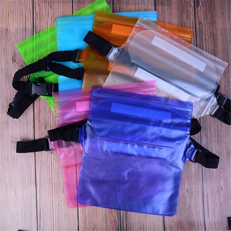 Waterproof Sports Bag Waist Bag Phone Pocket Swimming Drifting Diving Surfing Waist Pack Pouch Underwater Dry Shoulder Backpack