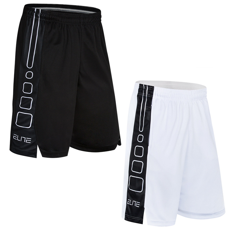 Sports Streetball Shorts Summer Fitness Pants Basketball Shorts Loose-Fit Over-the-Knee Elite Short Large Trunks Owen Men's