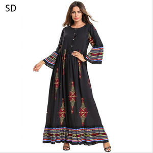 Open Abaya Maxi Dress Long Kaftan Women Clothing
