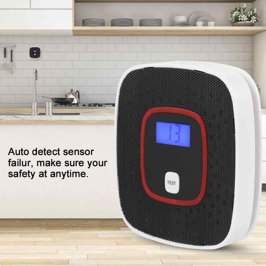 ЖК-дисплей CO детектор угарного газа, датчик сигнализации, газоанализатор для травления человека, голосовые подсказки, тестер, Лидер продаж