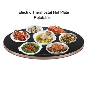 Termostato Elétrico Placa Quente Placa de Isolamento Refeição Rotating Inteligente Ajustável Temperatura Almofada de Aquecimento Mais Quente Leite Chá Comida 220V