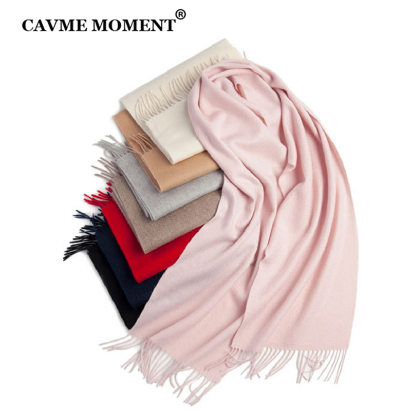 CAVME Pure Cashmere Scarf Unisex Women Men's Long Scarf Basic Scarves Solid Color CUSTOM Name 100% Cashmere 30*180cm