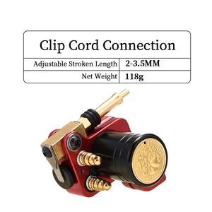 Image 3 - רוטרי קעקוע מכונת יפני מנוע אלומיניום סגסוגת מסגרת (אדום)