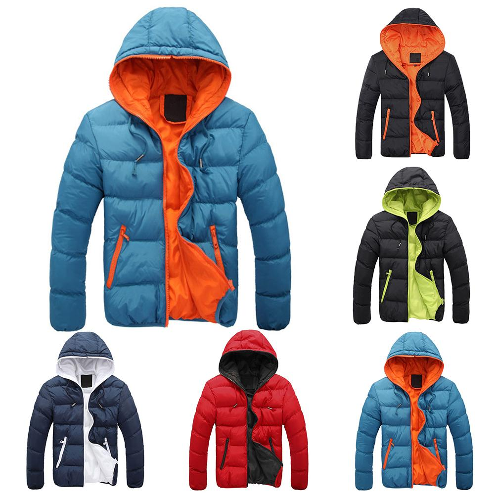 Winter Jacket Hooded Coat For Men Thick Warm Winter Jacket Men Windproof Parka title=