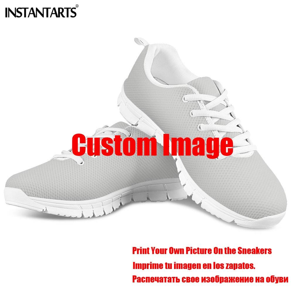 INSTANTARTS под искусственные бриллианты, разноцветные стразы образуют форму сердца женские ботинки на шнуровке женская обувь для здоровья узор с изображением сиделки Женская обувь на плоской подошве на резиновой подошве в повседневном стиле