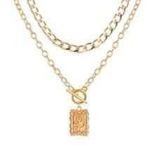 EN – collier avec pendentif EN forme de fleur de Rose pour femmes, chaîne épaisse à fermoir à bascule, ras du cou, bijoux de couleur or, 2020