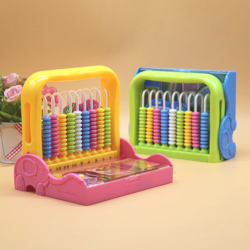 Stationary Box Primary School Grade One Set Calculation Frame Counter 12 Line Abacus Young STUDENT'S Mental Abacus Calculation K