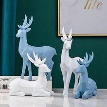 Полимерные фигурки оленя в скандинавском стиле 2 шт креативная