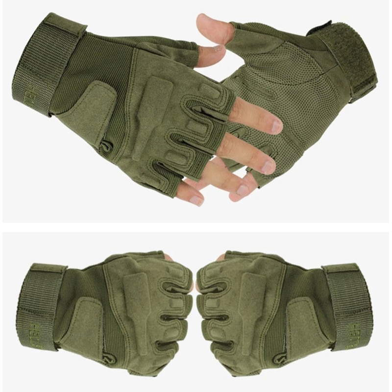 Tactical Cycling Gloves Airsoft Military Gym Climbing Shooting Paintball Army Antiskid Full Finger Hard Knuckle Gloves Men in Hunting Gloves from Sports Entertainment
