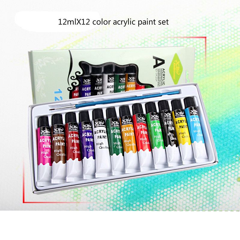 12mlX12 color acrylic paint set/DIY hand painted color paint set/ paint set / paint   / art supplies / paint for painting